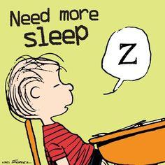 Linus Peanuts, Peanuts Cartoon, Charlie Brown And Snoopy, Linus Van Pelt, Sleep Quotes, Need Sleep, Snoopy Quotes, Good Morning Good Night, Work Humor