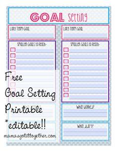 FREE Editable Goal Setting Printable!