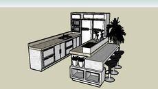 Modelo 3D de Cozinha com ilha 1