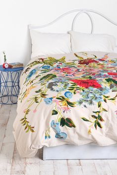 Romantic Floral Scarf Duvet Cover, very spring-like I would add coordinating pillow cases
