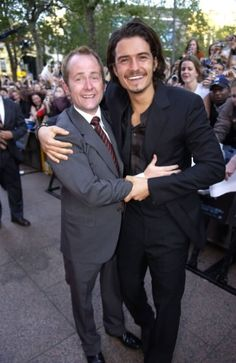 Billy Boyd and Orlando Bloom. but for real, look at Orlando. *swoon*