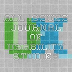 All Issues Journal of Usability Studies
