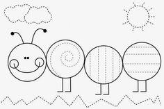 FREE pre-handwriting Worksheet Frog Spot: Free Teaching