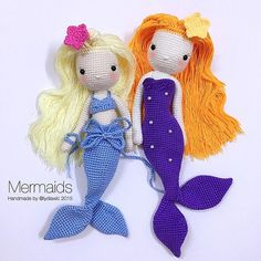 More cute crocheted mermaids More