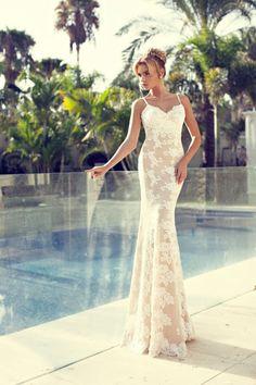Wedding Dresses   Nurit Hen Bridal 2014 Sheer Wedding Dress #weddingdress #tropicalwedding