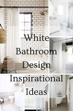 White Bathroom Design Inspirational Ideas, White Shower Curtain, White Vanity, Linen Shower Curtain and more. White Ruffle Shower Curtain, Extra Long Shower Curtain, Long Shower Curtains, White Shower, Custom Shower Curtains, Fabric Shower Curtains, Decorating Your Home, Interior Decorating, White Vanity Bathroom
