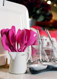 Hot pink kitchen tools