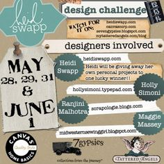 Heidi Swapp Design Challenge with @HollySimoni, Tattered Angels, @Canvas Corp and @7gypsies.