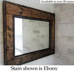 """Reclaimed Wood Mirror - Large Wall Mirror - Rustic Modern Home - Home Decor - Mirror - Housewares - Woodwork - Frame - Stained Mirror. Reclaimed Wood Framed Mirror • Available in 3 sizes 24"""" x 30"""", 30"""" x 36"""" or 42"""" x 30"""" • Built with premium knotty pine wood • 1/4"""" quality mirror glass • Available in Horizontal or Vertical Mounting • screwed on saw tooth hangers are attached for easy hanging on any wall • Available in over 20 stains **Each frame will look slightly different in color and..."""