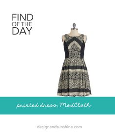 Find of the Day: Printed Dress, ModCloth