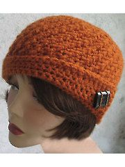 Crochet Accessory Downloads - Angled Brim Crochet Hat