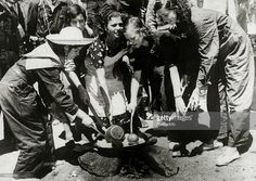Spain - 1936. - GC - Communist girl volunteers preparing breakfast for 'red' troops who are fighting the patriots in the Sierra Guadarrama, With what started as a military uprising in Morocco, headed by General Franco, the fighting spread rapidly to start the Spanish Civil War, Outside support was provided by the International Brigade who helped the Republican cause and by Germany and Italy both allied to the Nationalists, Once Government resistance was exhausted,...