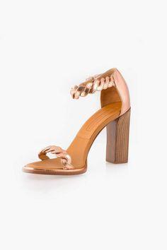 af5e1d0d8b4 Veronique Branquinho Specchio Heel Gold Leather