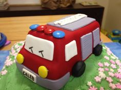 Fire engine cake for my son's 3rd birthday.