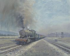 Burrows Sidings, Swansea by Richard Picton. Oil on Canvas. Grey Wallpaper Iphone, Abandoned Train, Steam Railway, Train Art, Old Trains, Swansea, Steam Locomotive, Painting Prints, Paintings