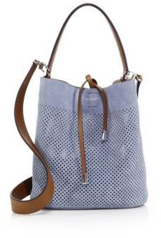 Michael Kors Collection Miranda Medium Perforated Suede Bucket Bag