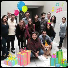 Every month we celebrate the birthday of our members' team. On May, Pisco (the golden) and Livia Ranzani were the ones!