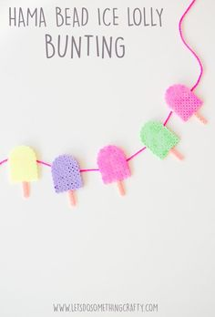 Quick and Easy Hama Bead Designs: ICE LOLLY BUNTING