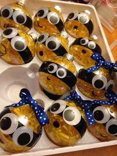 Minion ornaments! Jacks party favors for his Minion birthday party!!