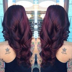 Cherry brown. Wish I had the guts to do this. Such a gorgeous color!