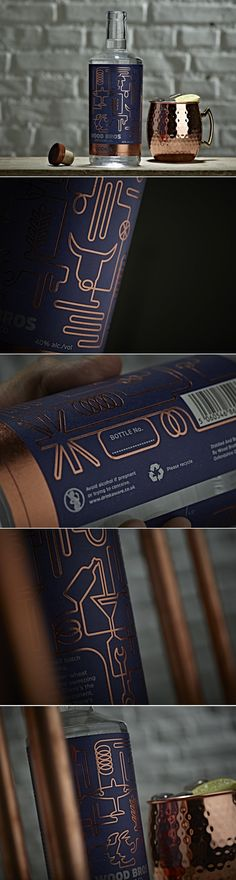 Wood Brothers Vodka Comes With Beautiful Rose Gold Details — The Dieline | Packaging & Branding Design & Innovation News