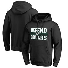 Dallas Stars Fanatics Branded Hometown Collection Defend Pullover Hoodie - Black