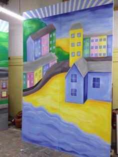 Painted set flat