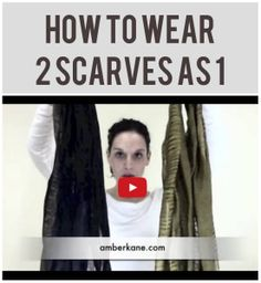 click to watch this great how to wear a scarf video. http://amberkane.com/2013/12/12/take-spring-scarves-turn-winter-scarves/