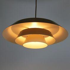 Danish layered art light designed by Bent Karlby for Lyfa, late 1960s