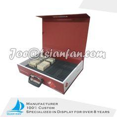 stone sample box cardboard sample suitcase cardboard display stand