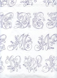 Alphabet to embroider from: Gallery. Embroidery Alphabet, Alphabet Art, Embroidery Monogram, Hand Embroidery Stitches, Silk Ribbon Embroidery, Hand Embroidery Designs, Embroidery Art, Cross Stitch Embroidery, Machine Embroidery