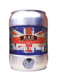 Cerveja God Save The Queen Küd, estilo Extra Special Bitter/English Pale Ale, produzida por Cervejaria Küd, Brasil. 5.3% ABV de álcool.