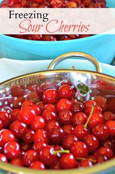 Freezing sour cherries is the best method of long term storage for these very perishable summer fruits. Sour Cherry Jam, Cherry Tart, Jam Recipes, Canning Recipes, Nutella Recipes, Cherry Recipes Healthy, Cherry Hand Pies, Frozen Cherries, Freezing Cherries