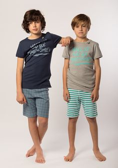 Snuggle up in these cool, soft cotton fine rib pyjamas. Featuring our signature eeni meeni miini moh / woven elastic waistband and a playful placement print on the top, bedtime has never been so fun Cute 13 Year Old Boys, Young Cute Boys, Cute Teenage Boys, Cute Little Boys, Young Boys Fashion, Cute Kids Fashion, Boy Fashion, Tween Boy Outfits, Boys Summer Outfits