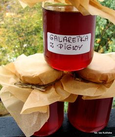Galaretka z pigwy | Smaczna Pyza Food And Drink, Baking, Drinks, Health, Salad, Diet, Canning, Alcohol, Drinking