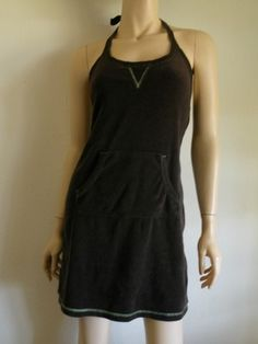 Old Navy Brown Terry Cloth Halter Summer Mini Dress Sz XS  $15  Vintage Clothing & Fashion Finds