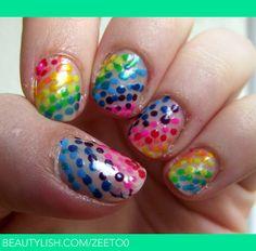 Rainbow dots! | Nora H.'s (zeeto0) Photo | Beautylish