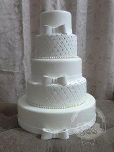 INSPIRATION: WEDDING CAKE IDEAS #wedding #weddingcakes Bling Wedding Cakes, Floral Wedding Cakes, White Wedding Cakes, Elegant Wedding Cakes, Wedding Cookies, Elegant Cakes, Beautiful Wedding Cakes, Gorgeous Cakes, Wedding Cake Designs