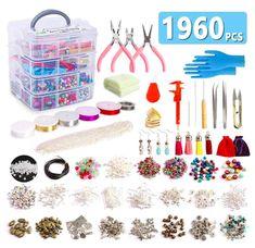 Diy Jewelry To Sell, Jewelry Making Kits, Jewelry Kits, Jewelry Tools, Charm Jewelry, Beaded Jewelry, Pony Bead Bracelets, Teen Jewelry, Beaded Boxes