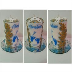 Available at my Etsy shop in colors of your choice! Shop name is KaysHenna  Personalized Candles, Shower Favors, Candle Making, Henna Designs, Decoration, Centerpieces, My Etsy Shop, Fancy, Colors