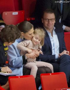 Queens & Princesses - Princess Victoria inaugurated the Artistic Skating European Championships taking place in Stockholm. Prince Daniel and Estelle were also present.