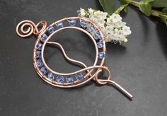Copper wire spiral shape Hair Barrette, hair pin,hair slide hair accessories, £15.00