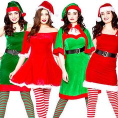 Mrs santa claus & helper elf ladies fancy dress christmas #womens #adults #costum, View more on the LINK: http://www.zeppy.io/product/gb/2/272051665864/