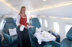 #Tyrolean Jet Services - Austria's first #Executive Air Operator with #Dirndl service - Corporate 328 Jet