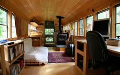 I have always dreamed of converting an old school bus into a camper-thingy.  Just a gypsy at heart.  or maybe I watched too much of the Partridge Family!  --- 15 Creative Converted School Buses | Mental Floss