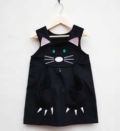 Halloween costume black cat dress by Wild Things. $60.00, via Etsy.