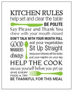 1000 ideas about kitchen rules on pinterest kitchens for 3 kitchen safety rules