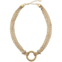 Panacea Multi-Strand Rope Circle & Crystal Rondelle Necklace ($31) ❤ liked on Polyvore featuring jewelry, necklaces, multi strand necklace, multiple chain necklace, rope necklace, rope chain necklace and crystal necklace