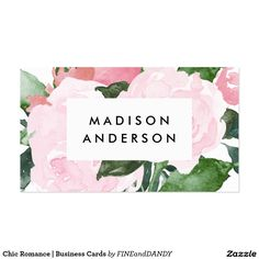 Chic Romance   Business Cards