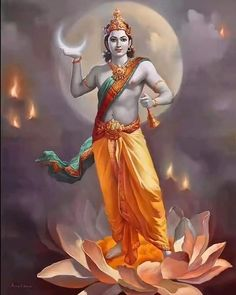 Shiva Art, Krishna Art, Hindu Art, Hare Krishna, Indian Gods, Indian Art, Mantra, Krishna Statue, Krishna Painting